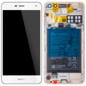 Huawei Y5 (2017) / Y6 (2017) White LCD Display Module + Battery