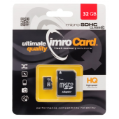 Memory Card MicroSDHC Imro with adapter, 32Gb, Clasa 10 - UHS-1 U1, (EU Blister)