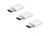 Samsung Connector USB Type C to Micro USB 3-Pack EE-GN930KWEGWW White (EU Blister)