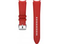 Hybrid Leather Band (20mm, M/L) for Samsung Galaxy Watch4  / Samsung Galaxy Watch4 Classic ET-SHR89LREGEU Red (EU Blister)