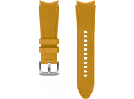 Hybrid Leather Band (20mm, S/M) for Samsung Galaxy Watch4  / Samsung Galaxy Watch4 Classic ET-SHR88SYEGEU Mustard (EU Blister)