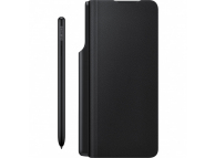 Leather Flip Cover for Samsung Galaxy Z Fold3 5G with Pen and 25W Travel Adapter EF-FF92KKBEGEE Black (EU Blister)