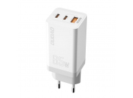 Fast Wall Charger Dudao GaN A7xs 65 W USB, 2x USB Typ C Quick Charge Power Delivery Gallium Nitride White