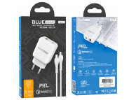 BLUE Power Wall Charger BLN5, PD20W+QC3.0 with Lightning Cable White (EU Blister)