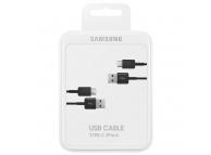 Samsung USB - USB Type-C Data cable pack ( 2 pcs ) EP-DG930MBEGWW Black (EU Blister)