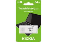 External Memory KIOXIA U202, 64Gb, USB 2.0, White, LU202W064GG4 (EU Blister)