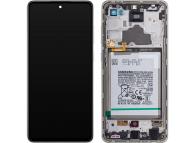Samsung Galaxy A72 4G / 5G A725 / A726 White LCD Display Module + Battery