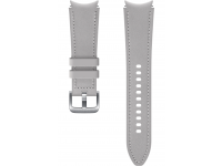 Hybrid Leather Band (20mm, M/L) for Samsung Galaxy Watch4  / Samsung Galaxy Watch4 Classic ET-SHR89LSEGEU Silver (EU Blister)