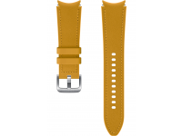Hybrid Leather Band (20mm, M/L) for Samsung Galaxy Watch4  / Samsung Galaxy Watch4 Classic ET-SHR89LYEGEU Mustard (EU Blister)