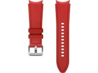 Hybrid Leather Band (20mm, S/M) for Samsung Galaxy Watch4  / Samsung Galaxy Watch4 Classic ET-SHR88SREGEU Red (EU Blister)
