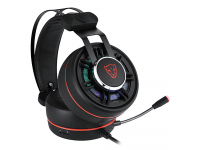 Gaming headset Motospeed G919, OverEar, RGB, Black