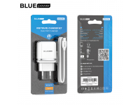 BLUE Power Wall Charger BLBA25A Outstanding 2 X USB with Type C Cable White (EU Blister)